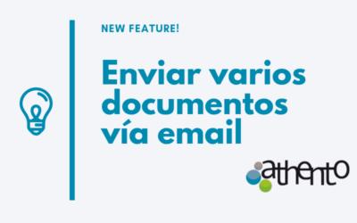 Ya es posible enviar varios documentos vía email como adjuntos