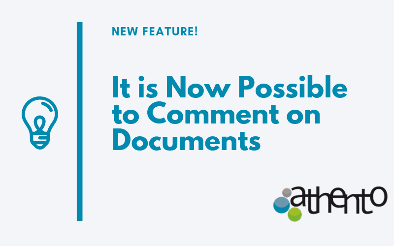 It is Now Possible to Comment on Documents