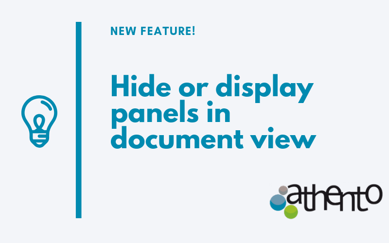 Now it is possible to hide or display panels in document view