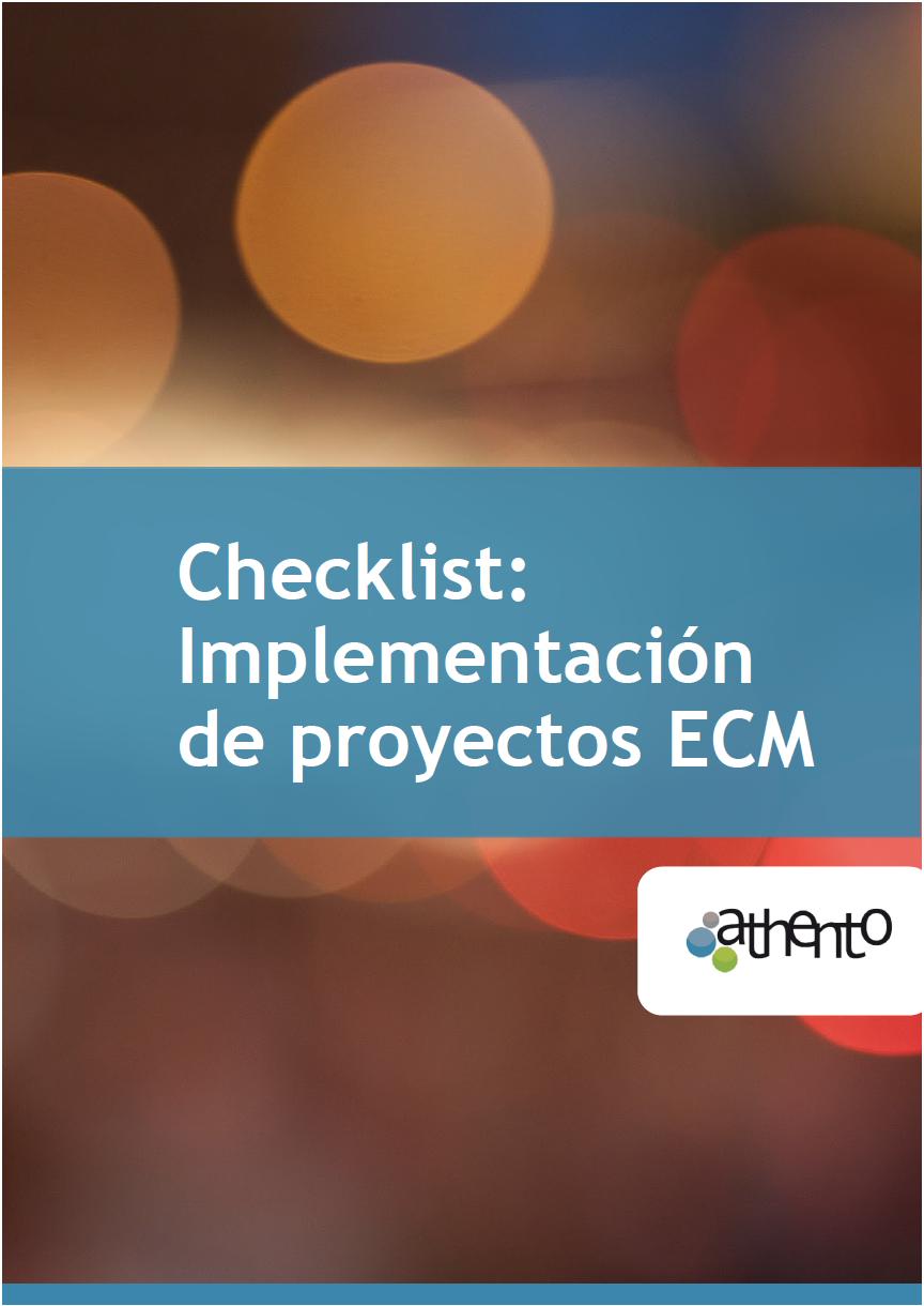 Checklist de implementacion de proyectos ecm